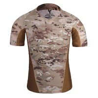 Emerson - Skin Tight Base Layer Camo Running Shirts - Multicam