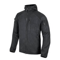 Helikon-Tex - ALPHA HOODIE Jacket - Grid Fleece - Black