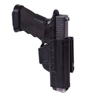 Helikon-Tex - Fast Draw Holster for Glock 17 with Belt Clip - Military Grade Polymer - Black
