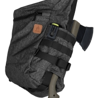 Helikon-Tex - BUSHCRAFT SATCHEL Bag - Nylon Polyester Blend - Black-Grey Melange