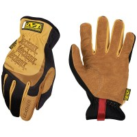 Mechanix Wear - Leather FastFit Work Gloves - Brown