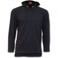 Spiral Direct - URBAN FASHION - Fine Cotton Summer Hoody Black