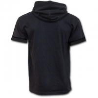 Spiral Direct - URBAN FASHION - Fine Cotton T-shirt Hoody Black