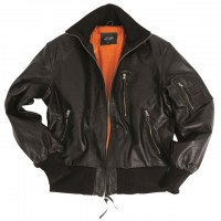 Sturm - German Black Leather Flight Jacket