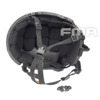 FMA - New Suspension And High Level Memory Pad For Ballistic Helmet - Black - Black