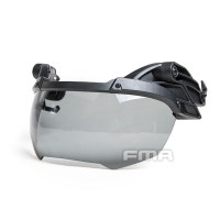 FMA - Helmet Goggle DE BLACK Lenses - Black