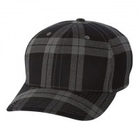 Flexfit - Tartan Plaid Cap - Black/ Grey