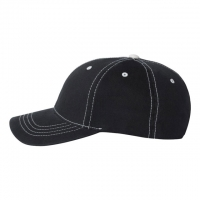 Flexfit - Contrast Color Stitched Cap - Black/ Stone