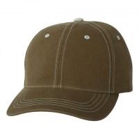 Flexfit - Contrast Color Stitched Cap - Loden/ Stone