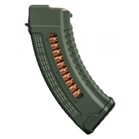 FAB-Defense - Полимерный магазин 7.62x39 на 30 патронов для AK ULTIMAG AK 30R - Зелёный