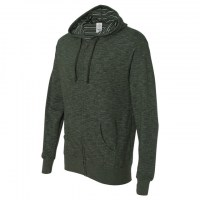 Independent Trading Co. - Baja Stripe French Terry Full-Zip Hood - Verde Bosque