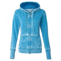 J. America - Women's Zen Fleece Full-Zip Hooded Sweatshirt - Oceanberry