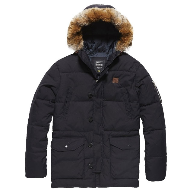Vintage Industries - Medway parka - Dark Navy
