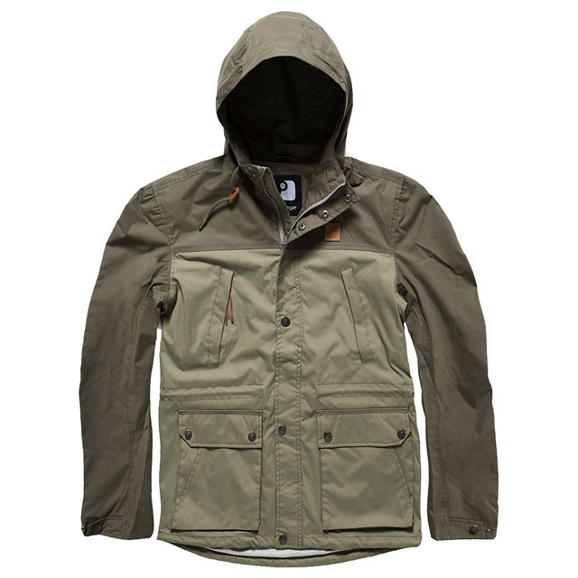 Vintage Industries - Leap jacket - Olive-Light Olive