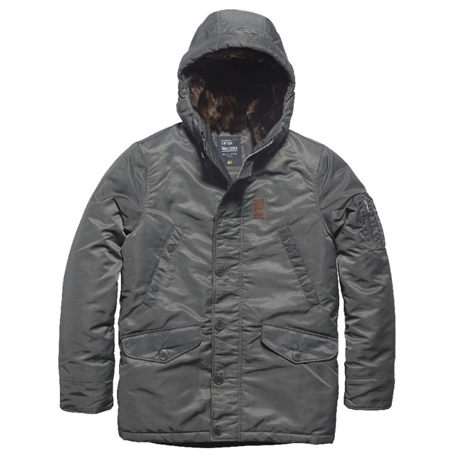 Vintage Industries - Mitchel parka - Replica Grey
